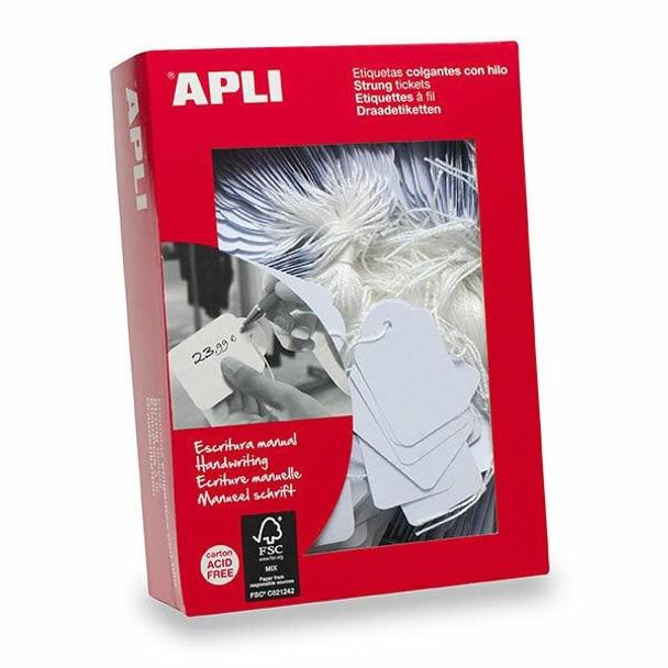 APLI Handwriting Strung Tickets 00391 28x43mm Box500 900391
