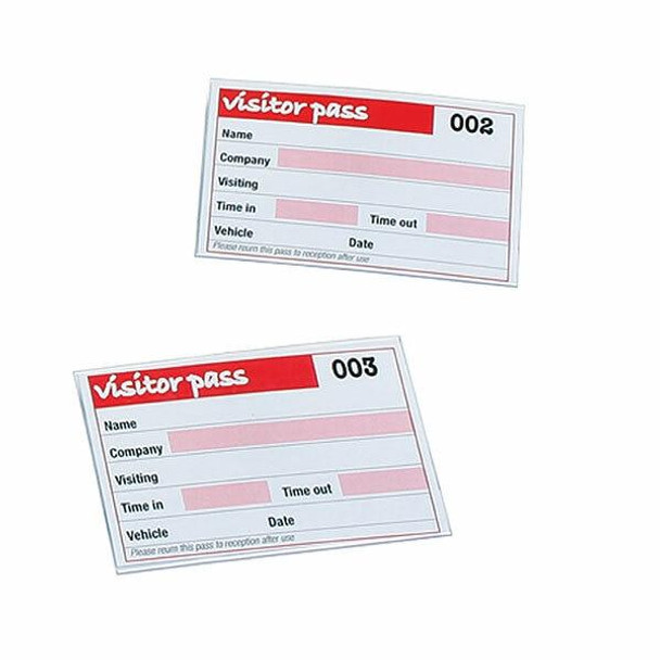 Rexel Id Visitor Book Refill 100 Badge Inserts 900391A