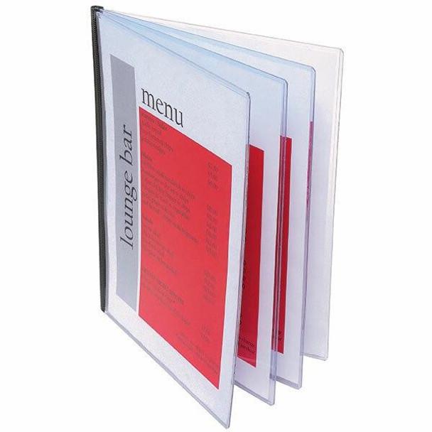 Marbig Document Protector Pvc A4 4 Pockets X CARTON of 5 90079