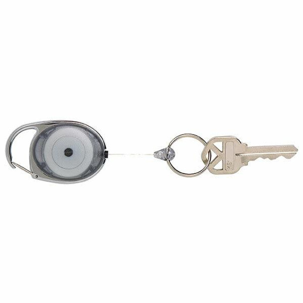 Rexel Id Snap Lock Retractable Keyholder Charcoal Hangsell X CARTON of 12 9806111