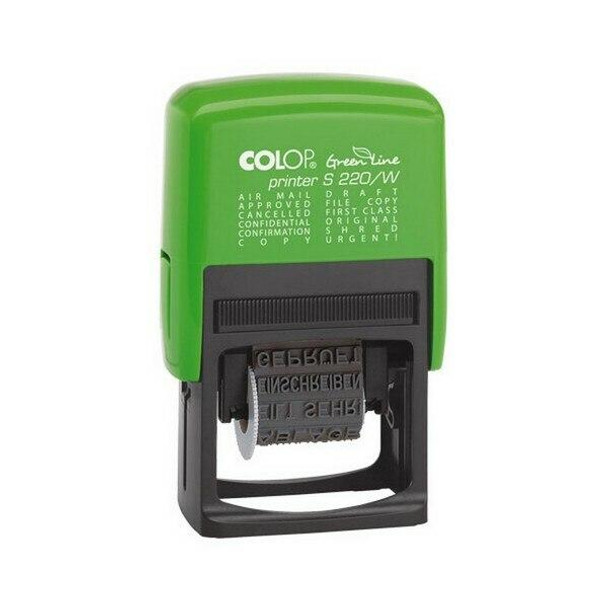 COLOP Green Line Word Stamp S220/Wb 4mm Black 987140-1