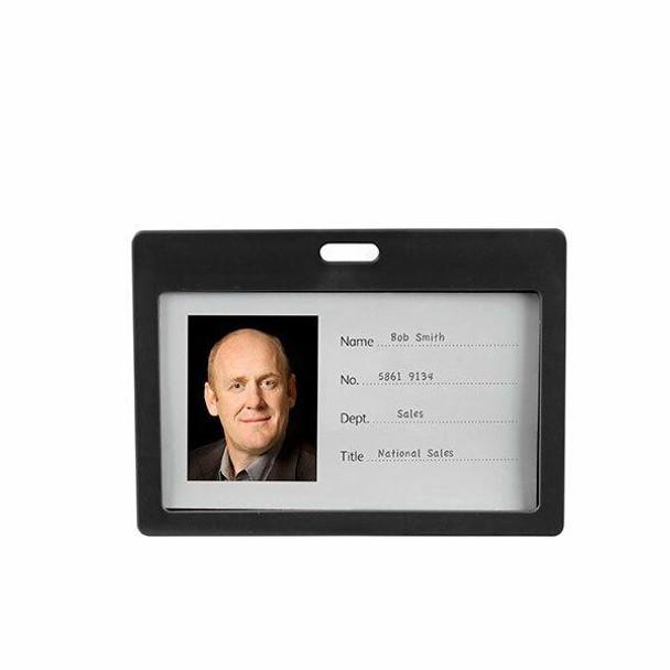 Rexel Id Coloured Plastic Card Holder L 6Pack Black 9901102
