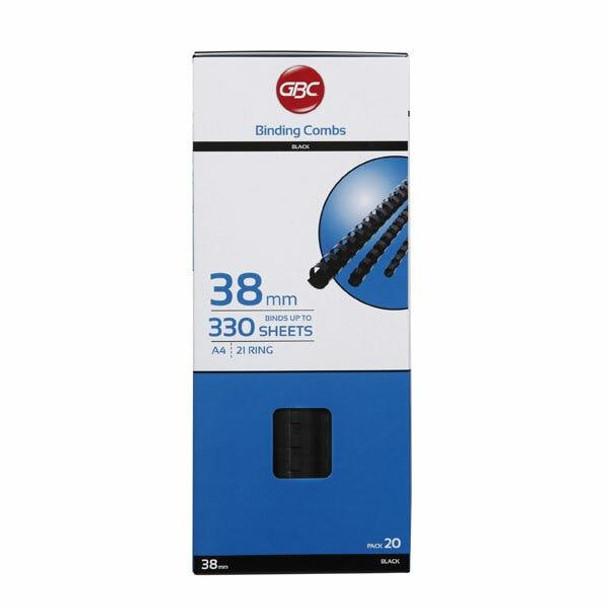 GBC Binding Comb 25mm Black Pack20 BEP25BK20