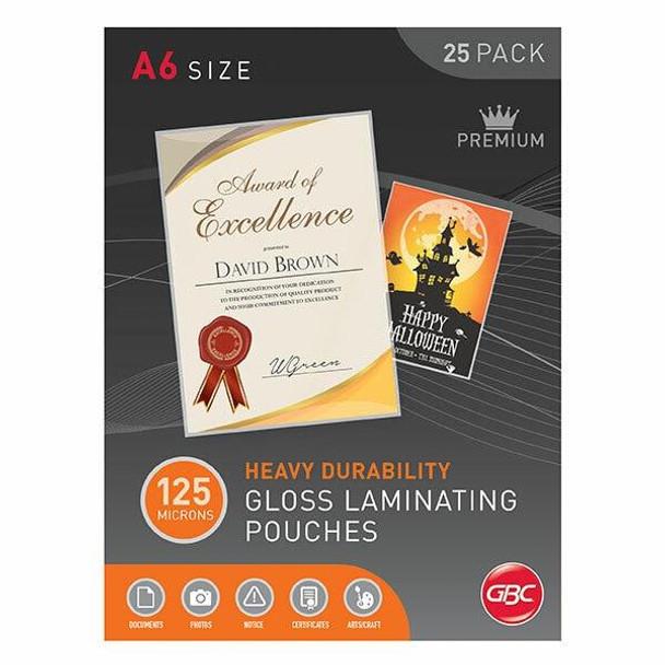 GBC Laminating Pouch A6 125 Micronron Pack25 BL125M25A6