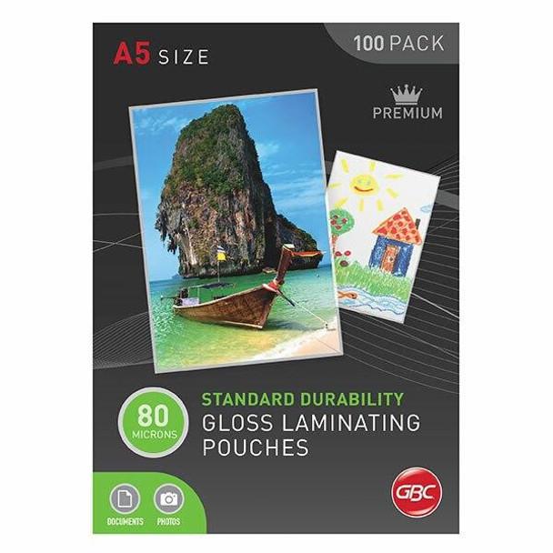 GBC Laminating Pouch A5 80 Micronron Pack100 BL80MA5