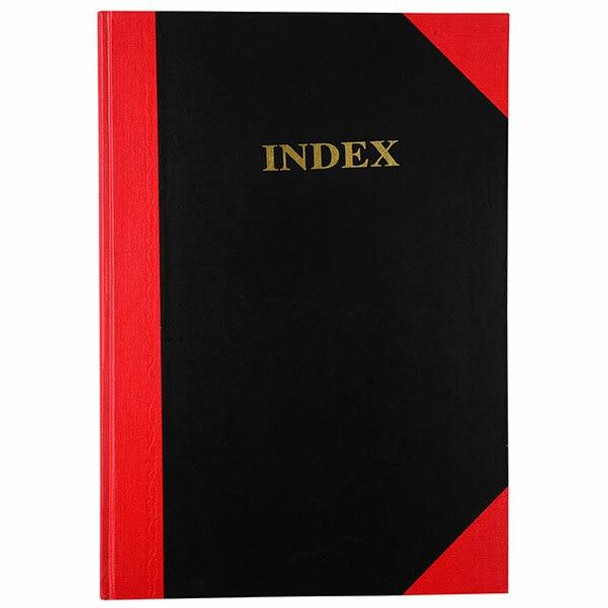 CUMBERLAND Red and Black Notebook A4 100 LeAnti-Fatigue Indexed FCA4100I