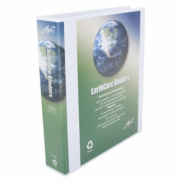 Earthcare Insert Binder A4 3d Ring 40mm White X CARTON of 16 IB813403DWH