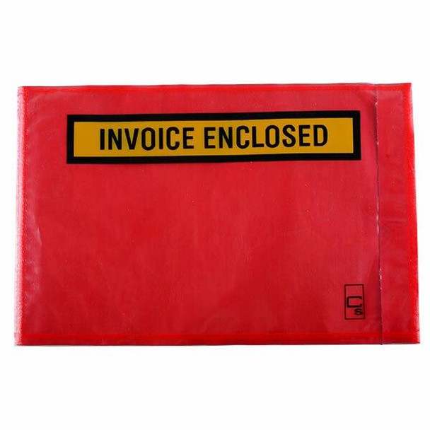 CUMBERLAND Packaging Envelope Invoice Enclosed Red 175 X 115mm Box1000 OL800IE