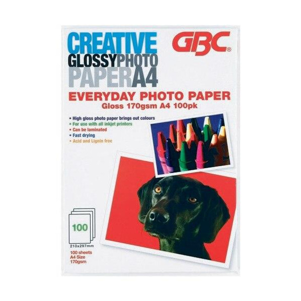 GBC Photo Paper A4 Everyday 160gsm Pack100 PPA4EDAY100CR