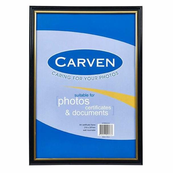 Carven Document Frame Black/Gold A4 X CARTON of 6 QFWBKGLDA4