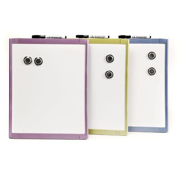 Quartet Whiteboard Basics 280x360mm Assorted X CARTON of 4 QTMHOW1114