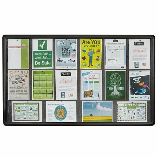 Quartet Enclosed Board Fabric 900x1500mm QTNOTICE1509