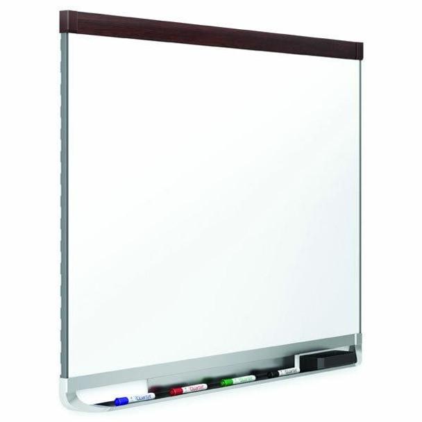 Quartet Whiteboard Porcelain 1220x1810mm Mahogany QTTE557M
