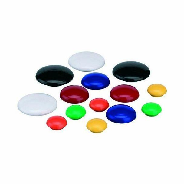 Quartet Magnet Buttons 30mm Black Pack10 X CARTON of 5 QTTMB3000