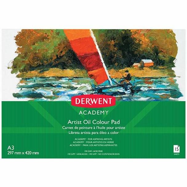DERWENT Academy Oil Paints Pad Landscape A3 15 Sheets X CARTON of 5 R310470