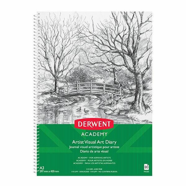 DERWENT Academy Drawing Pad A3 Portrait 80 Pages X CARTON of 5 R31140F