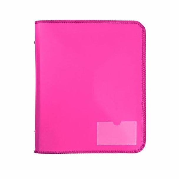Marbig Zipper Binder W/ Tech Case 25mm 2d Pink X CARTON of 10 6980009