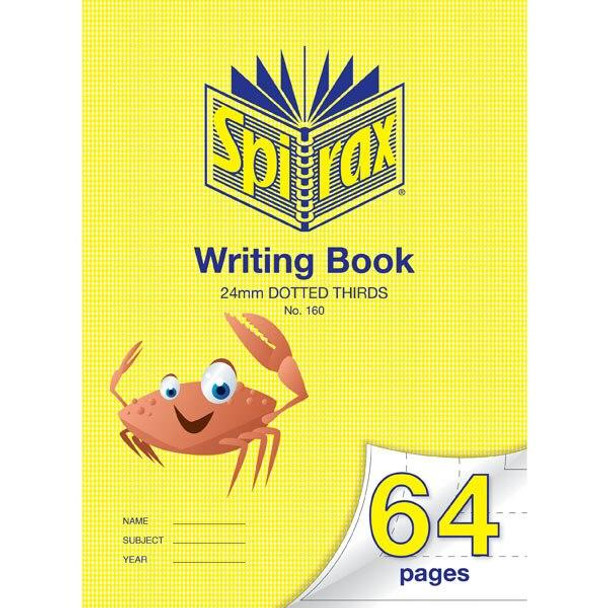 Spirax 160 Writing Book 64 Page 335x240mm 24mm Dotted X CARTON of 10 56160
