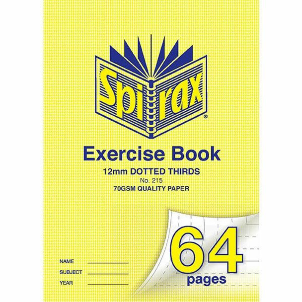 Spirax 215 Exercise Book A4 12mm 64page X CARTON of 20 56215