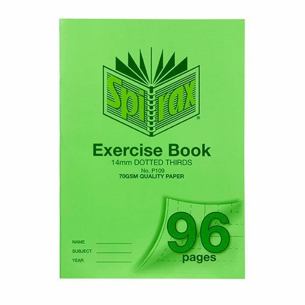 Spirax P109 Exercise Book A4 14mm Dt 96page X CARTON of 10 56109P