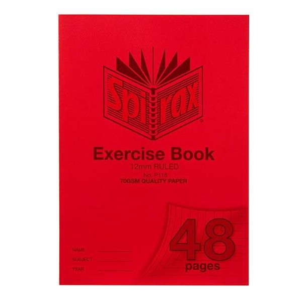 Spirax P118 Exercise Book A4 12mm 48page X CARTON of 20 56118P