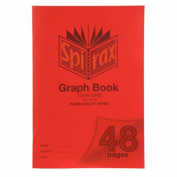 Spirax P130 Grid Book A4 10mm 48page X CARTON of 20 56130P