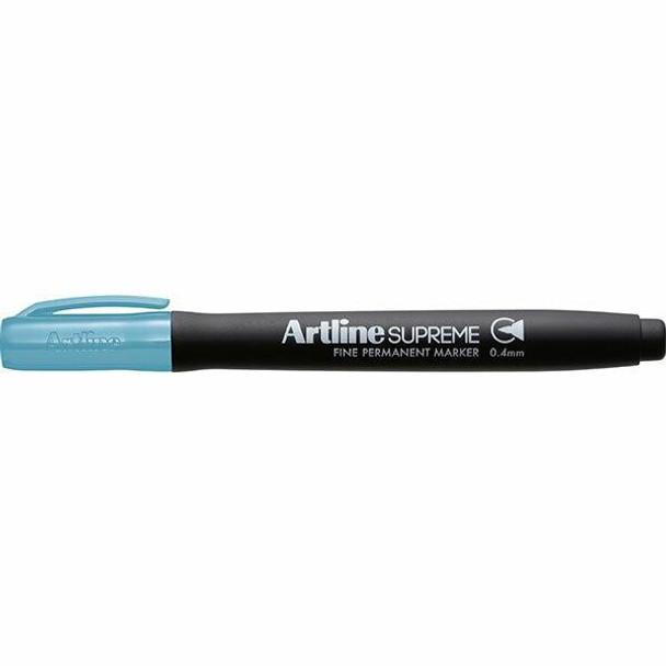 Artline Supreme Prm Marker 0.4mm Light Blue BOX12 107413