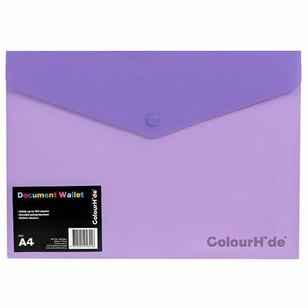 Colourhide Doc Wallet Pp W/ Button X CARTON of 10 1002419J