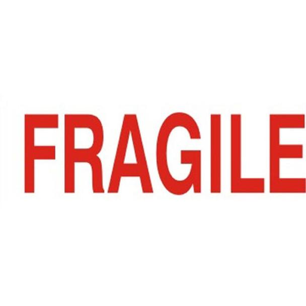 Deskmate Pre-Inked Office Stamp Fragile Red 0317270