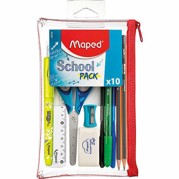 Maped Transparent School Pack 10pc X CARTON of 12 8899705