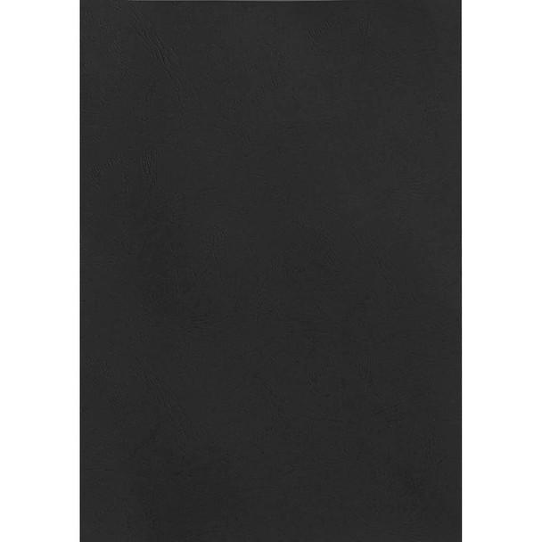 Rexel Leathergrain Covers 250 Gsm Black Pack 100 50333