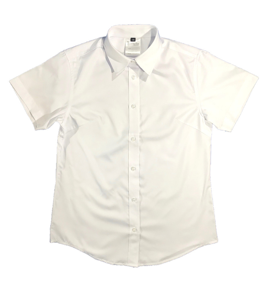 Girls white short-sleeved shirt