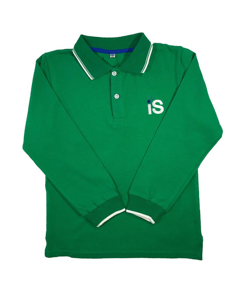 TIS unisex long-sleeved polo shirt: 3 colours