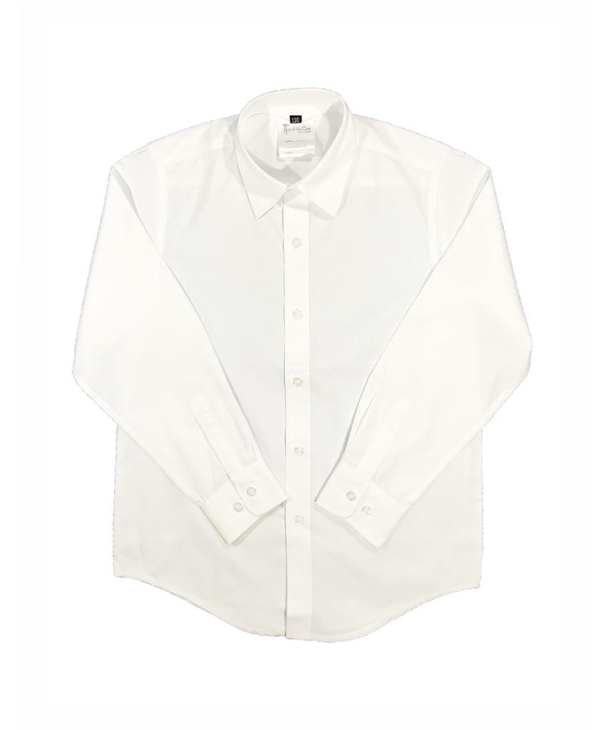 Boys white long-sleeved shirt
