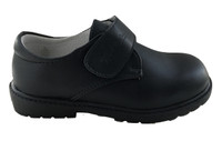 Black leather boys shoes