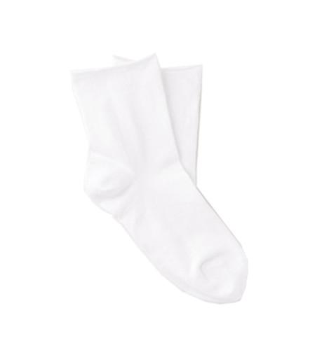 White, cotton-rich ankle socks