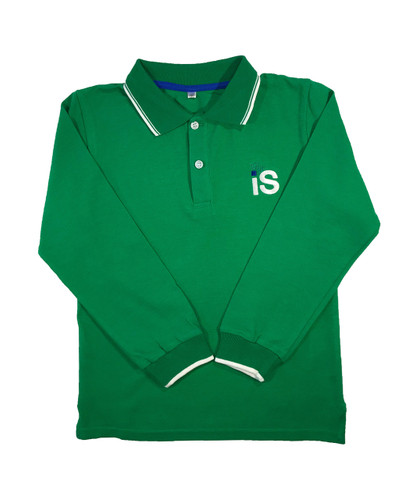 TIS unisex long-sleeved polo shirt: 3 colours