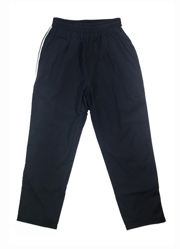 Navy track trousers (white stripes)
