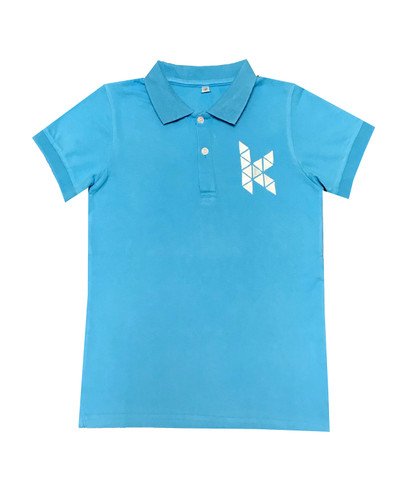 KIS pale blue polo shirt - ON SALE