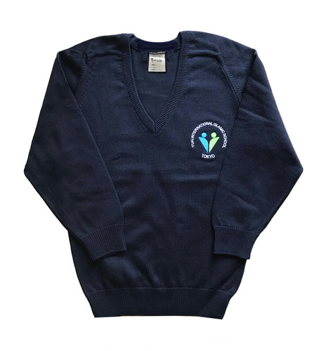 Yuai navy blue V-necked jumper