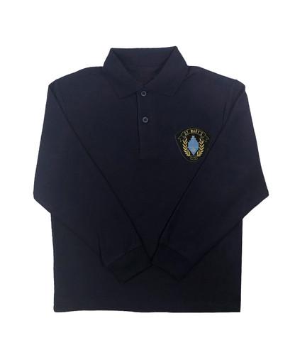 St. Mary's navy long-sleeved polo shirt