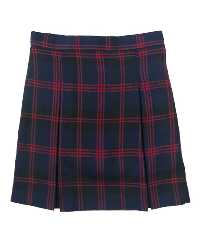 Red and navy tartan skort