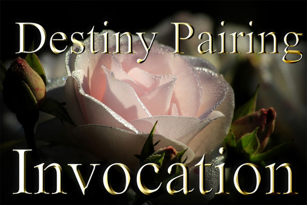 Th y d n a    R a c h a n v o    G e n d a v a   A l t a g n a   Z a c h o r                                                                                                                        The Destiny Pairing Invocation     This recording is intended to join together the forces of the universe that create twin souls. Most of us never find our twin flame, but this recording will help you work with the energy of your twin soul even if you don't ever find the one. Destiny pairing is the process of conjoining the energy of your twin flame with your own.  Whether you ever meet that person or not, their energy is part of you.  When you use the destiny pairing invocation, you draw upon the energy of the universe that helped to create both of you. The power that you use in this pairing is massive, and each time that you tap into it, you increase the power within your soul.   The recording may be used in three ways. One, you may say it alone, with no help at all.  This helps you subconsciously tap into the energy of your divine mate and work with him/her. This process is automatic as you say the words with us on the recording. Two, you may repeat the recording with another person, any person. This helps you tap into the energy without necessarily working directly with your divine mate. Saying the words with another person helps you work with the energy of two souls, yours and theirs. This process kindles a divine fire that helps you both. The energy may be used to empower your rituals, magick, prayers, and meditations.   Three, you may repeat the invocation with your divine mate. A divine mate is a blessing. Finding one is very, very difficult.  There is a deep inner knowing that accompanies this discovery.  The love, companionship, finishing each other's thoughts, unconditional acceptance, and genuine friendship are only a few of the traits that bind true twin flames.  Repeating this invocation strengthens your divine power and love for all those around you. This is 