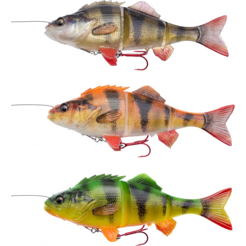 Savage Gear 4D Line Thru Perch 17cm. The 4'th dimension is created with our detailed Photo Chrome skin print and strike provoking scent. The details are incredible and so lifelike it will be even harder for the predator fish to resist a full committed attack.