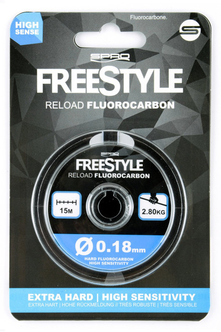 Spro Freestyle Reload Flurocarbon is a highly durable but fast sinking flurocarbon. The hard properties of the line enhances feedback and also makes it highly resistant against snags and rocks. All with 15m per spool.