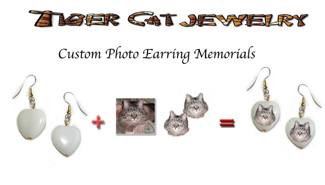 Pet Memorial - Photo Earrings