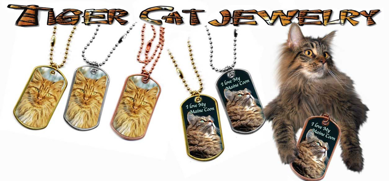 Maine Coon Cat Dog Tags