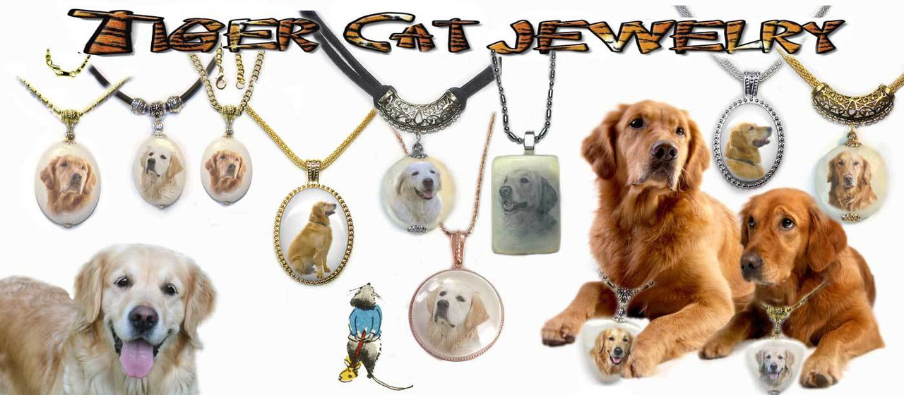 Golden Retriever Pendant Necklaces