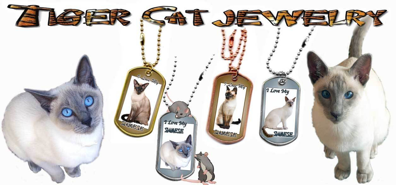 Siamese Cat Dog Tags