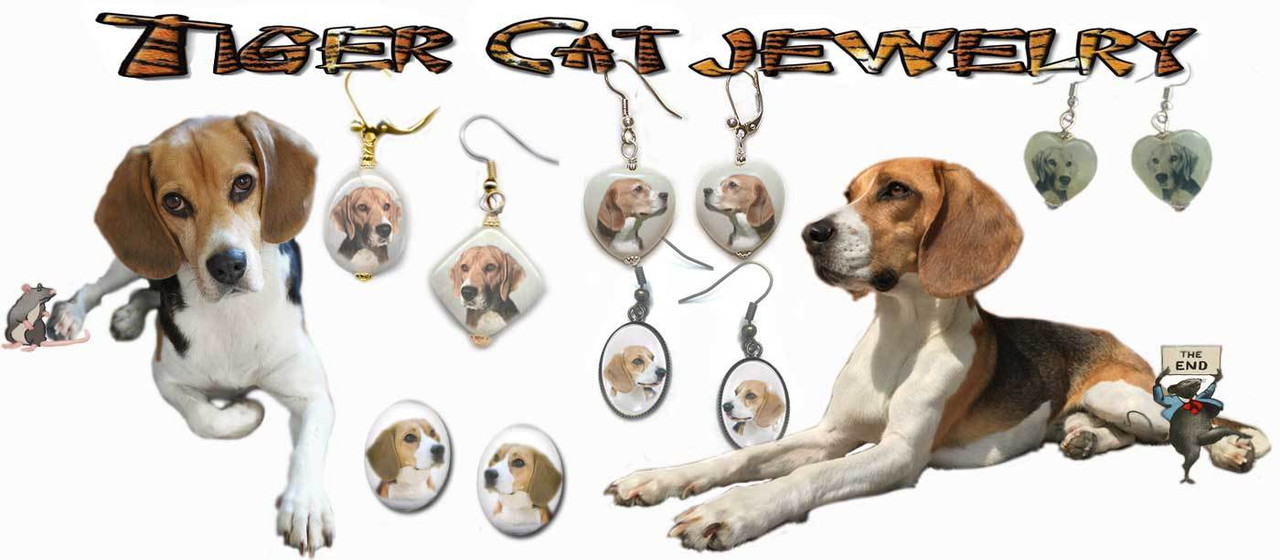 Beagle Dog Earring Collection